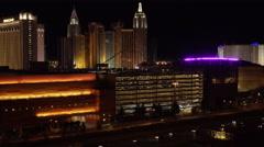 4K ES: Traffic Flows Along I-15 Through the Heart of Las Vegas Stock Footage