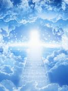 Way to heaven - stock illustration