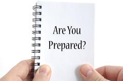 Are you prepared text concept Stock Photos