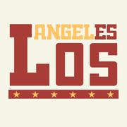 T shirt Los Angeles California Stock Illustration