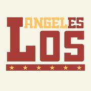 T shirt Los Angeles California - stock illustration