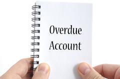 Overdue account text concept Stock Photos
