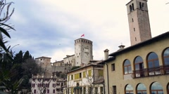 Castle of Asolo, Italy Stock Footage