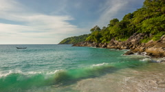 Summer day phuket freedom beach panorama hd thailand Stock Footage