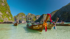 Phi phi don famous beach island tourist national boat park hd thailand Stock Footage
