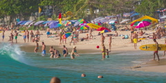 Sunny day summer time famous beach life hd phuket thailand Stock Footage