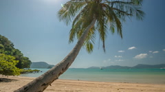 Summer day paradise palm beach panorama hd phuket thailand Stock Footage