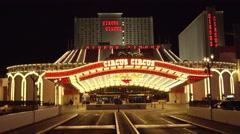 4k ES: The Circus Circus Hotel & Casino on the Las Vegas Strip - Circa 2016 Stock Footage