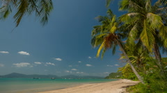 Summer time day light famous beach panorama hd phuket thailand Stock Footage