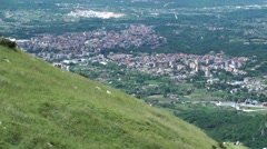 View of the city of Isernia in the small town of Miranda, Molise Stock Footage