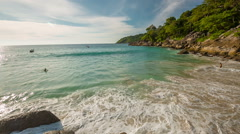 Famous phuket island freedom beach panorama hd thailand Stock Footage