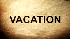 The Vacation on paper Burning in Flames to Ashes. - stock footage