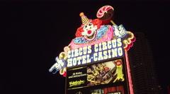 4k ES: The Circus Circus Hotel & Casino on the Las Vegas Strip - Circa 2016 - stock footage