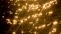sea ocean water sparkles abstract pattern light - stock footage