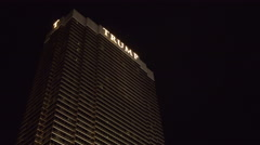 4K ES: Exterior of the Trump International Hotel Las Vegas Circa-2016 Stock Footage