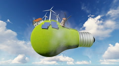 Idea, light bulb. alternative energy - stock footage
