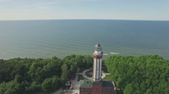 Baltic Lantern Aerial 4k Stock Footage