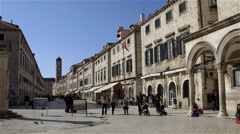 PLACA FRANCISCAN MONASTERY OLD TOWN DUBROVNIK Stock Footage