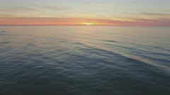 Baltic Sunset Reverse Aerial 4k Stock Footage