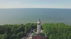 Baltic Lantern Reverse Aerial 4k Stock Footage