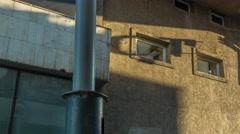 Sun light wall shadow run 4k time lapse minsk belarus Stock Footage