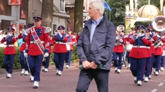 LAREN, NETHERLANDS – JUNE 26 2016: St. John's Procession with marching band - stock footage