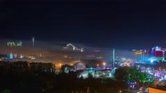 Minsk city holiday illumination night panorama 4k time lapse belarus Stock Footage