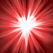 Red flare with a heart Stock Illustration