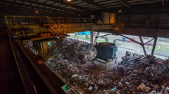 Scrap-metal  factory work machine recast storage 4k time lapse belarus Stock Footage