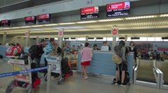 Check in area at the Tan Son Nhat International Airport Stock Footage