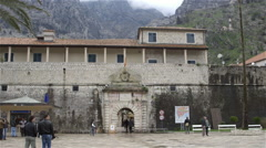 SEA GATE WEST GATE ENTRANCE KOTOR MONTENEGRO Stock Footage