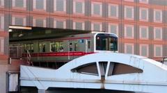 Tokyo - Trains leaving and arriving at Korakuen station. 4K resolution Stock Footage