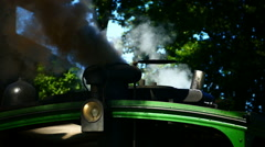 Nostalgic Steam Train in Prien Chiemsee lake Germany From Prien to Aschau Stock Footage