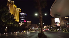 4K ES: The Fashion Show Mall & Wynn Hotel on the Las Vegas Strip Stock Footage