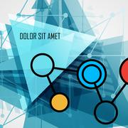 Modern abstract geometrical triangle design template Stock Illustration