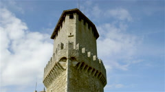 GUATIA TOWER CITY OF SAN MARINO REPUBLIC Stock Footage