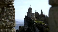 CESTA TOWER FORTRESS CITY REPUBLIC OF SAN MARINO Stock Footage