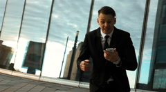 Businessman defeat the deal Stock Footage