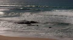 Algave portugal beach wild coast atlantic nature environment Stock Footage