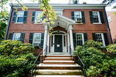Brick house in College Hill, Providence, Rhode Island. Stock Photos