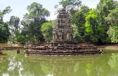 Neak Pean at Angkor Stock Photos