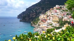 Positano village comune Stock Footage