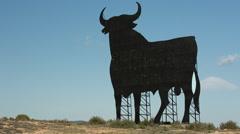 Spain bull icon roadside symbol animal spanish Stock Footage