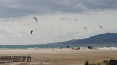 kite surf tarifa, andalusia spain - stock footage