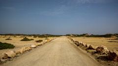 Drive off-road coast dirt track sea cliffs 4x4 Stock Footage