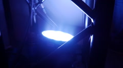 Light flows in stage construction Stock Footage