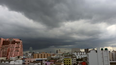 Time Lapse of Rain cloud formation in the sky above the city Bangkok Stock Footage