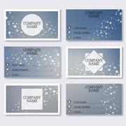 Set template of modern business visiting cards. Abstract background with Stock Illustration