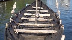 Seats on galley tilt mast Stock Footage