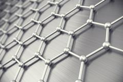 Graphene atomic structure, nanotechnology background. 3d illustration Stock Illustration
